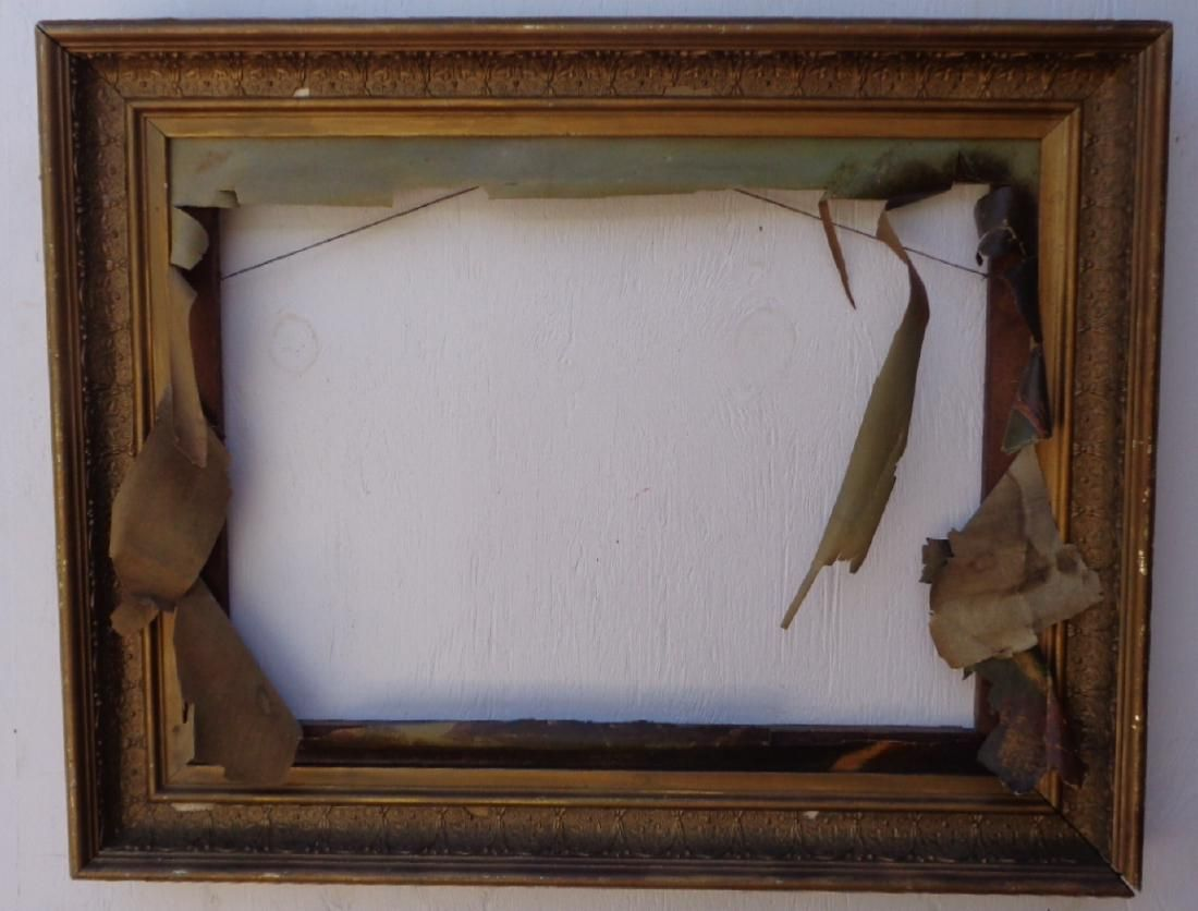 Antique picture frame made of wood and decorative