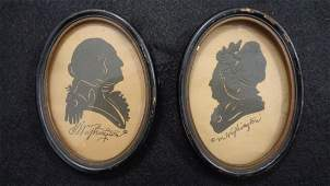 Ca 1789 Antique American Hollow Cut Silhouettes