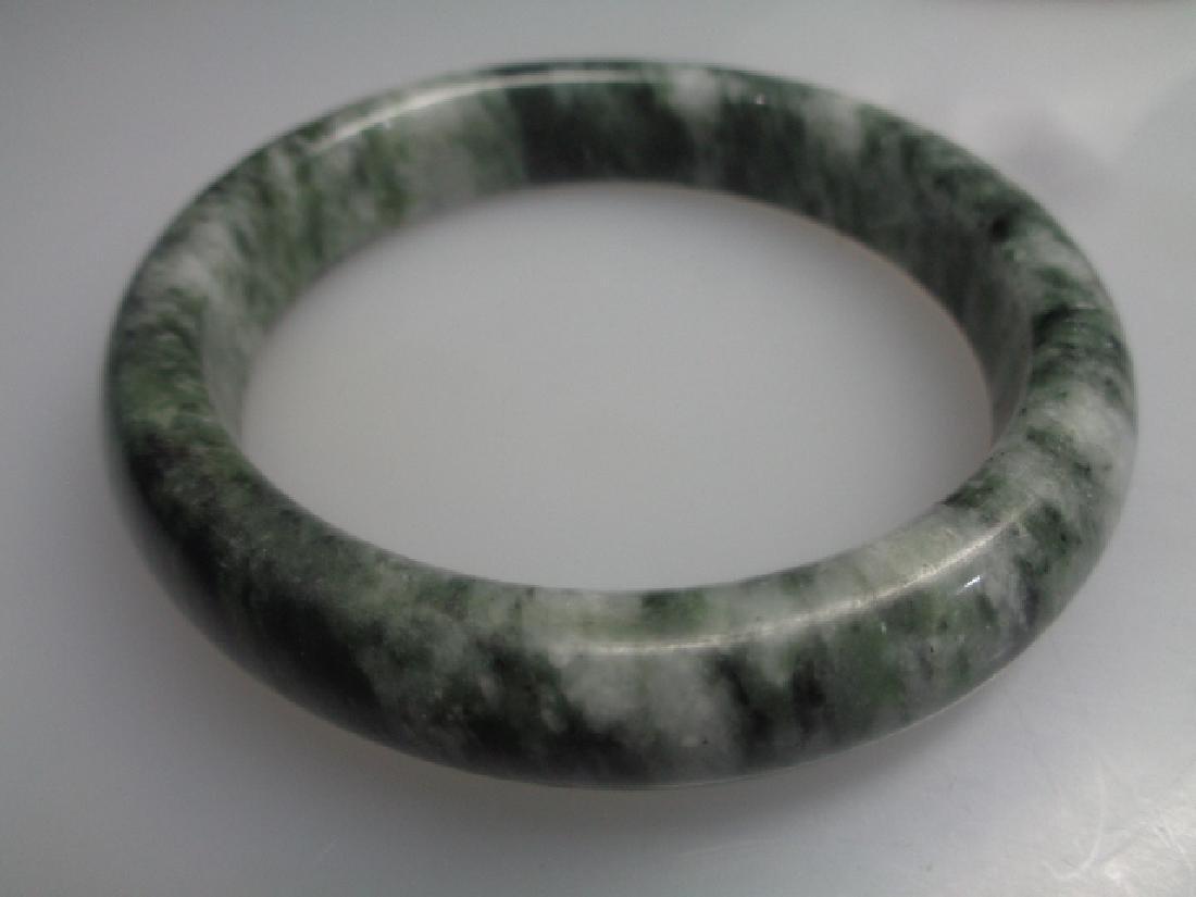 Natural Green Jade Bangle Bracelet 61mm