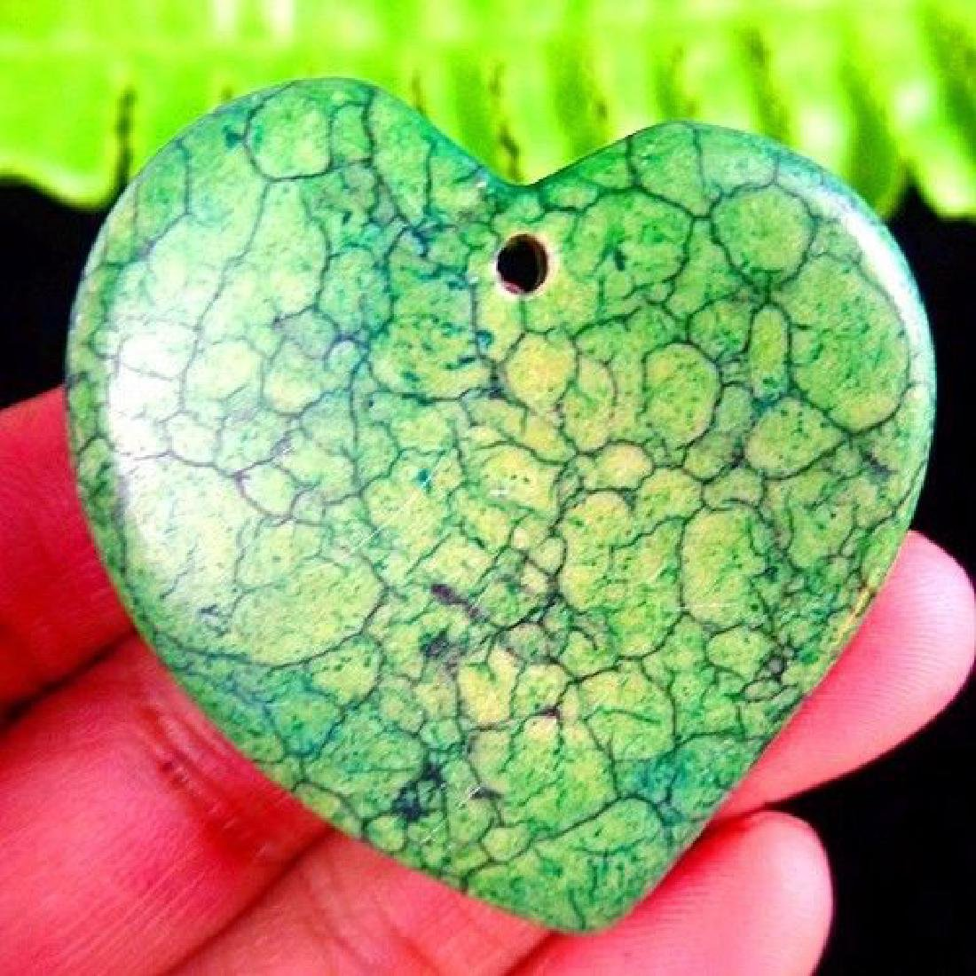 Green Turquoise Heart Pendant Bead