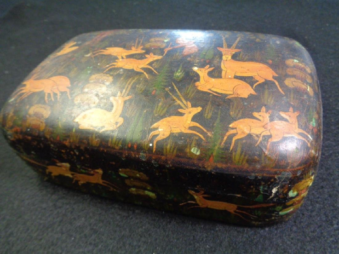Antique Hand Painted Treasure Box Hand Signed