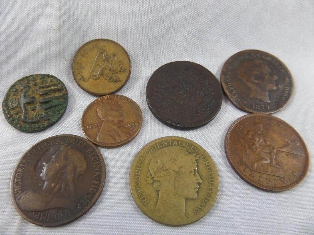 Lot of 7 Old World Foreign Coins-1958-1936-1905-1879-18
