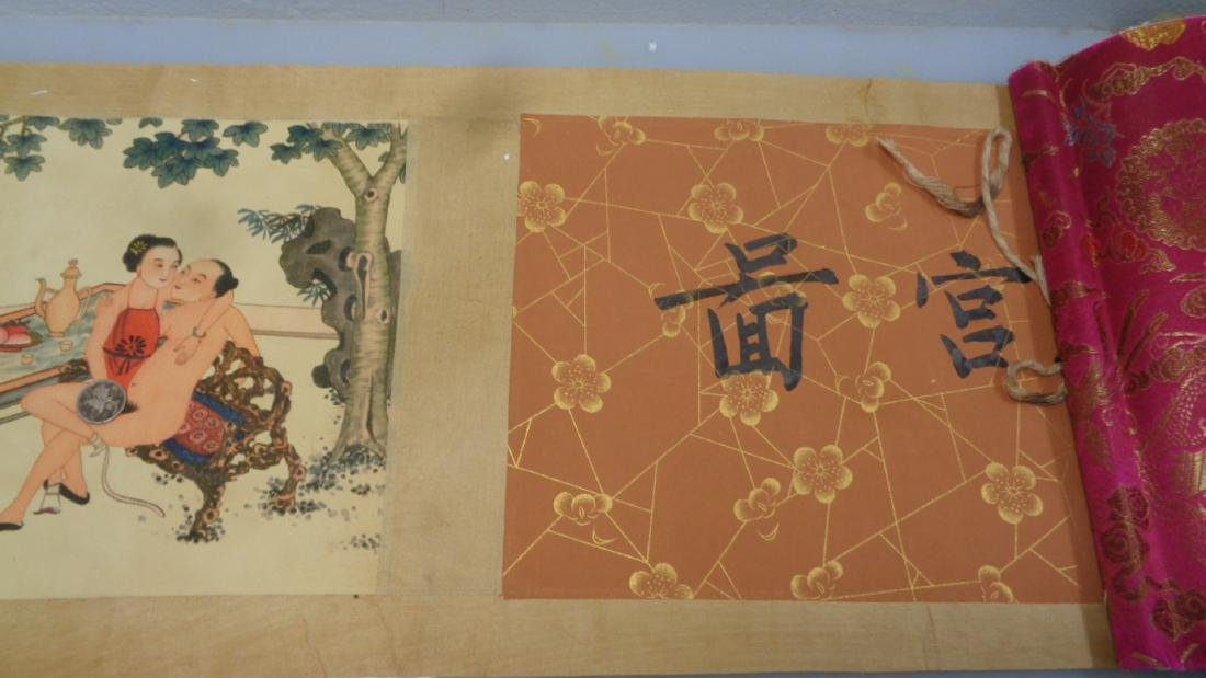 """Hand Painted Large Chinese Scroll.Size:98""""x6"""""""