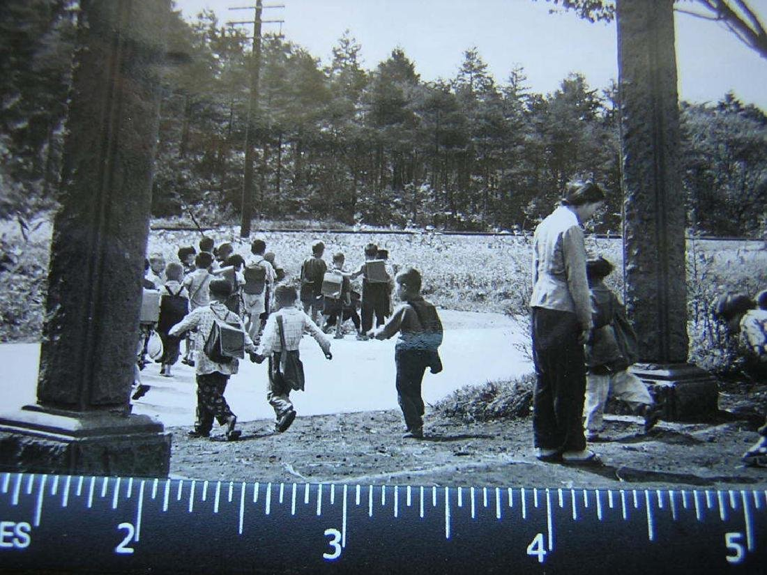 B&W VTG WW2 Japanese school kids post war.Photo - 2