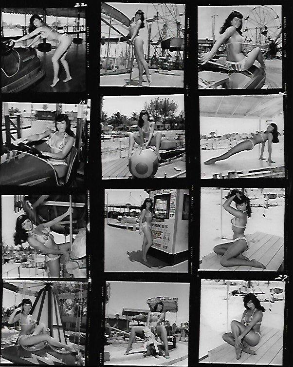 B & W  Betty Page Photo