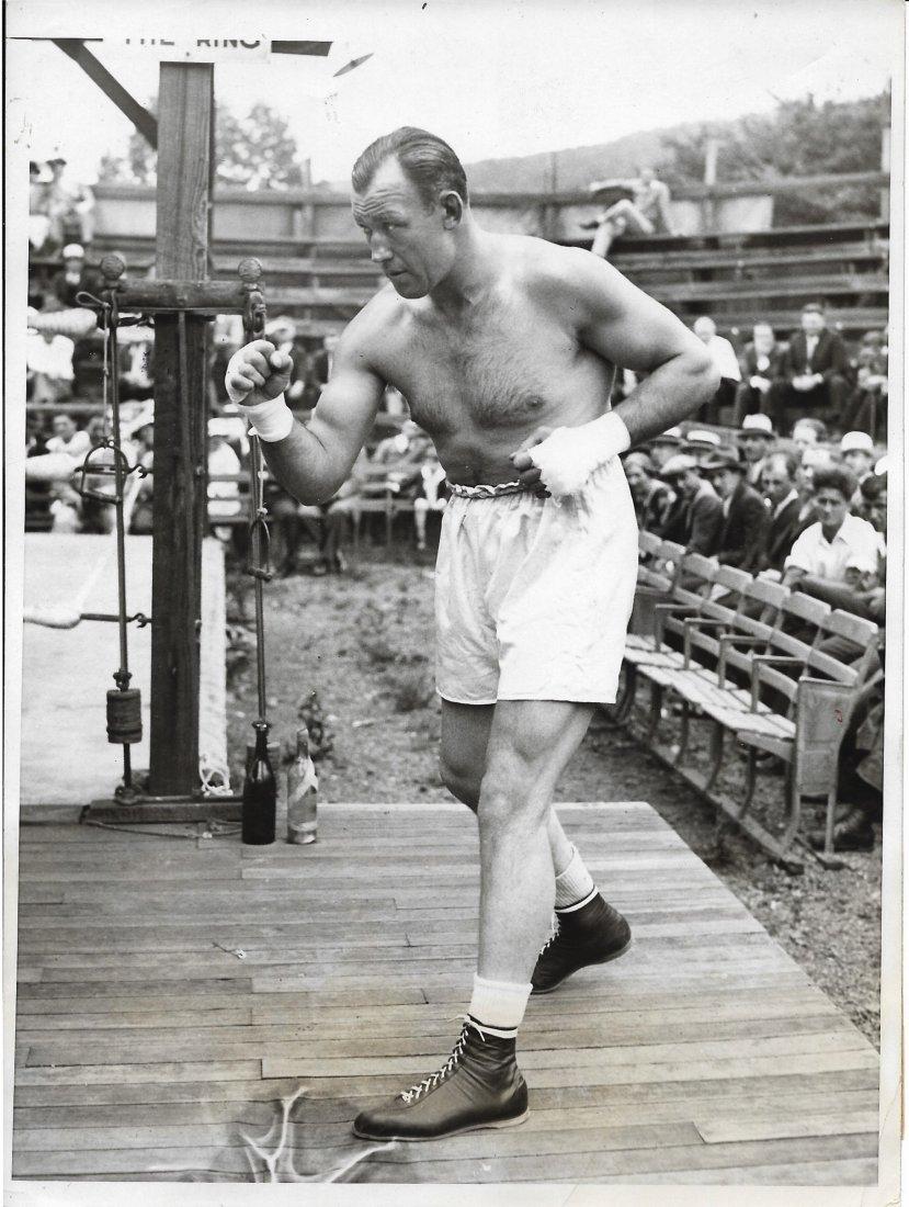 1933 Jack Sharkey World Heavyweight BoxingTraining