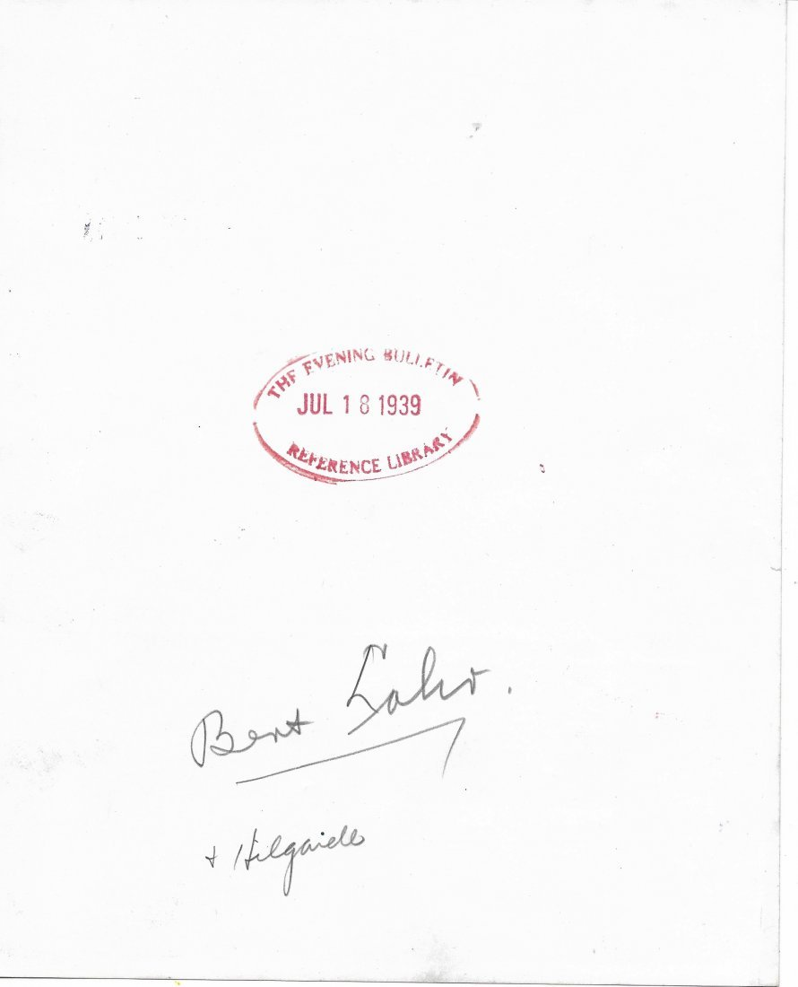 1939  Bent L Signed photo - 2