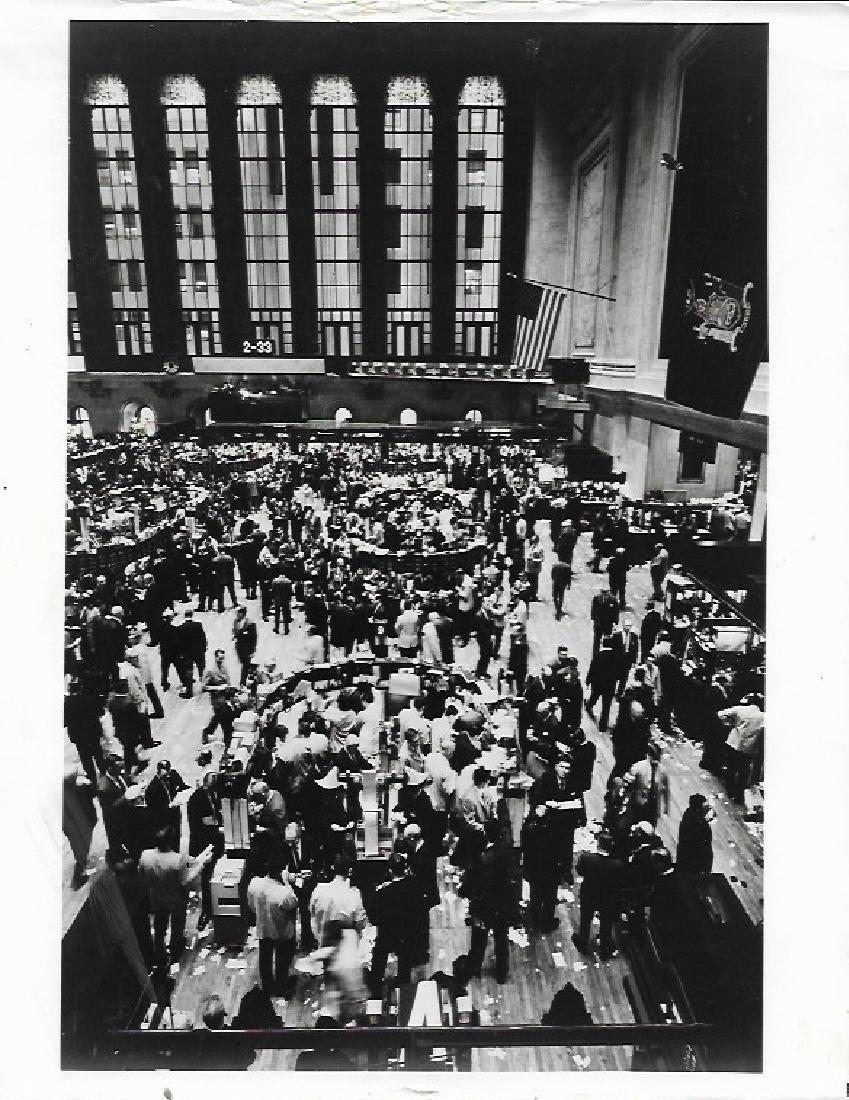 1967 Photo Floor of the New York Stock Exchange