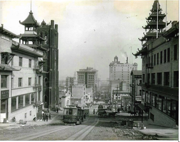 Circa 1910 Chinatown in San Francisco - Photo