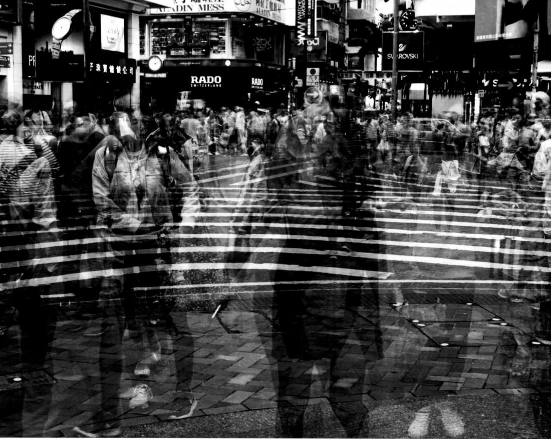 Abstract B&W Model Experimental Photomontage