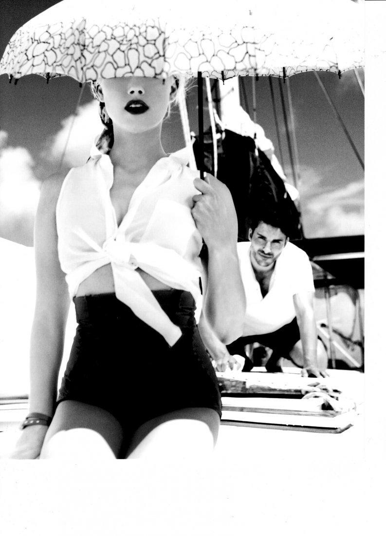 Vintage B&W Fashion Model Photo