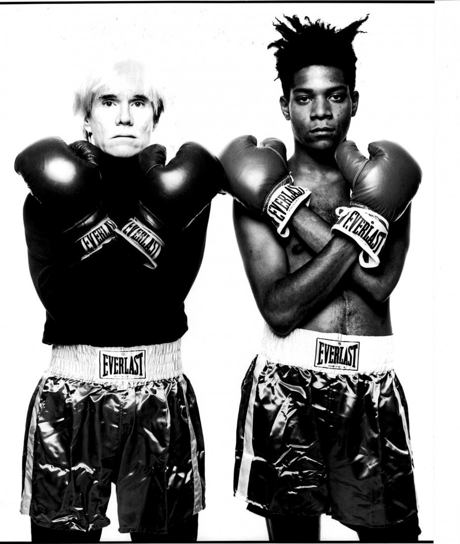 Jean-Michel Basquiat and Andy Warhol Photo