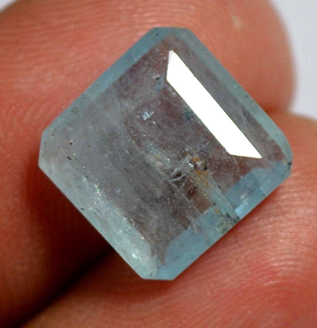 Certified 4.15 CT Natural Fine Quality Earth Mined Aqua - 2
