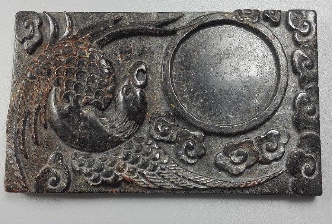 China Jade Carved Phoenix Ink Stone