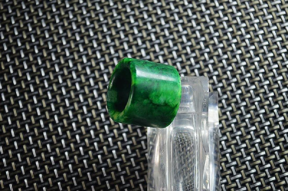 Jade carved BanZhi fingerstall