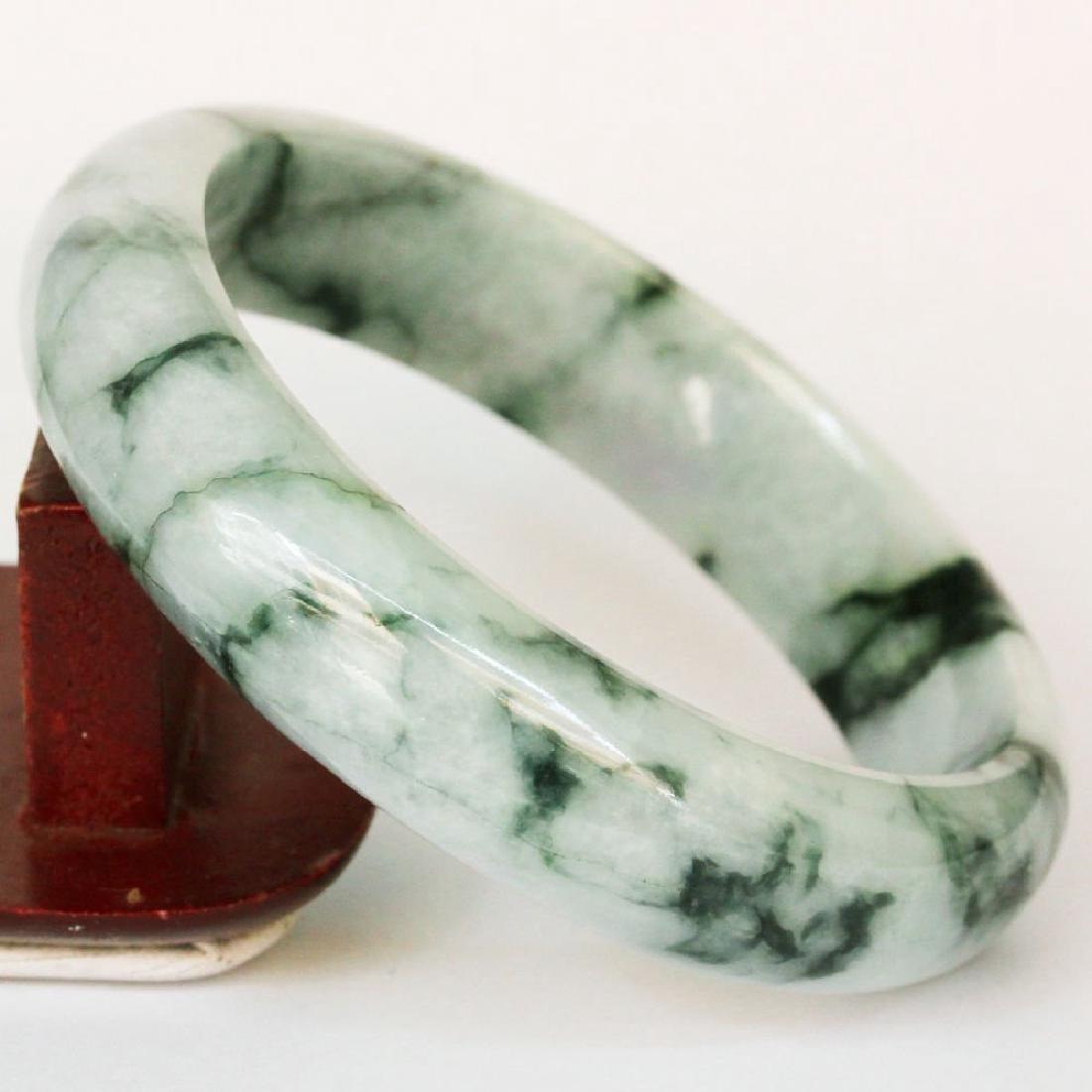 Natural Jadeite Bangle: 63 mm