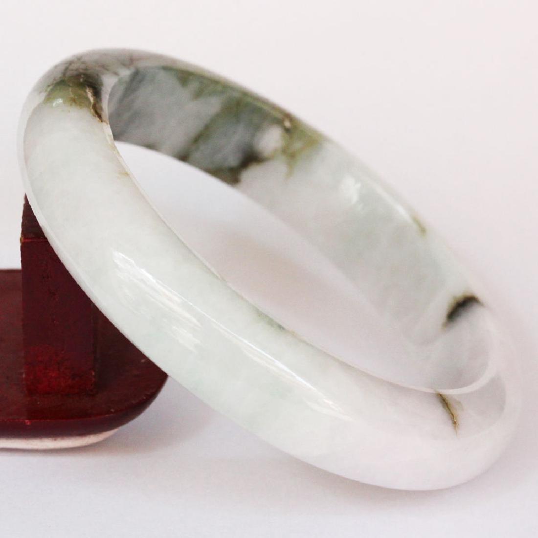 Natural Jadeite ( A Jade ) Bangle: 61mm