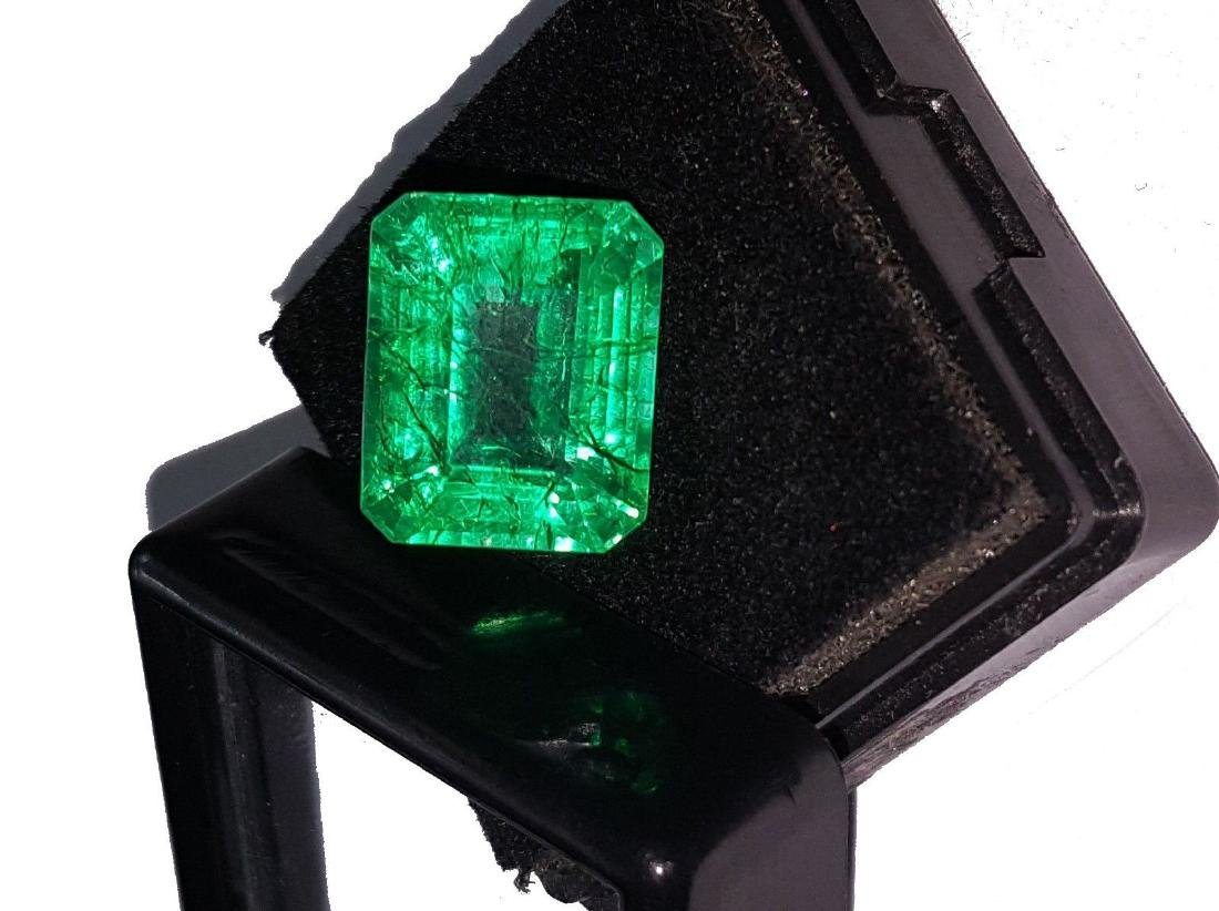 Emerald Shape 8.27 Ct Natural Certificate Colombian - 4