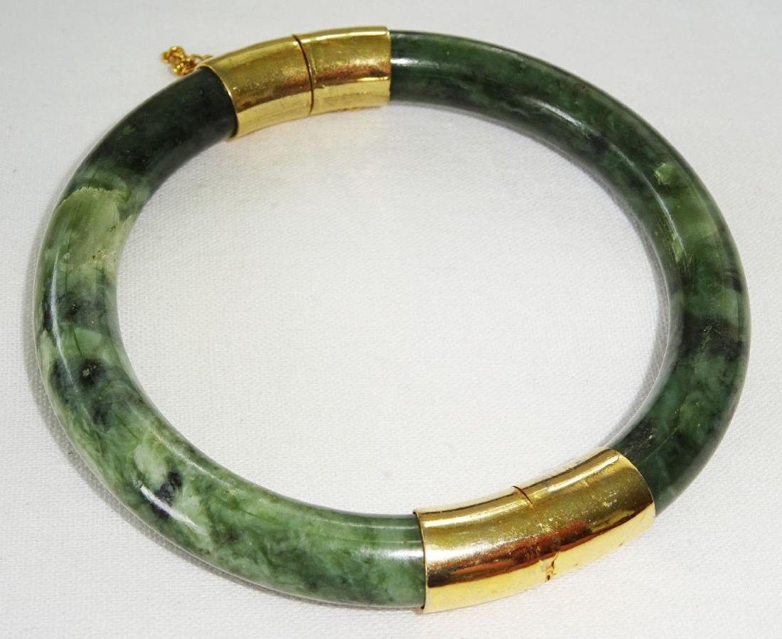Vintage Green Spinach Jade Bangle 57 mm