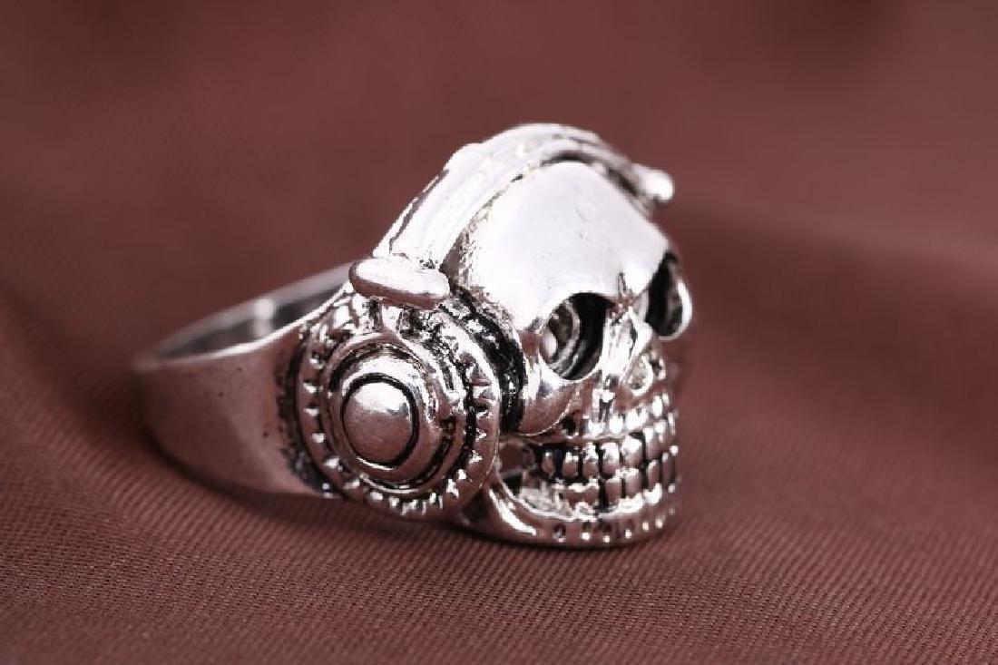 Skull shaped carving Men ring Stainless Steel -Size :10