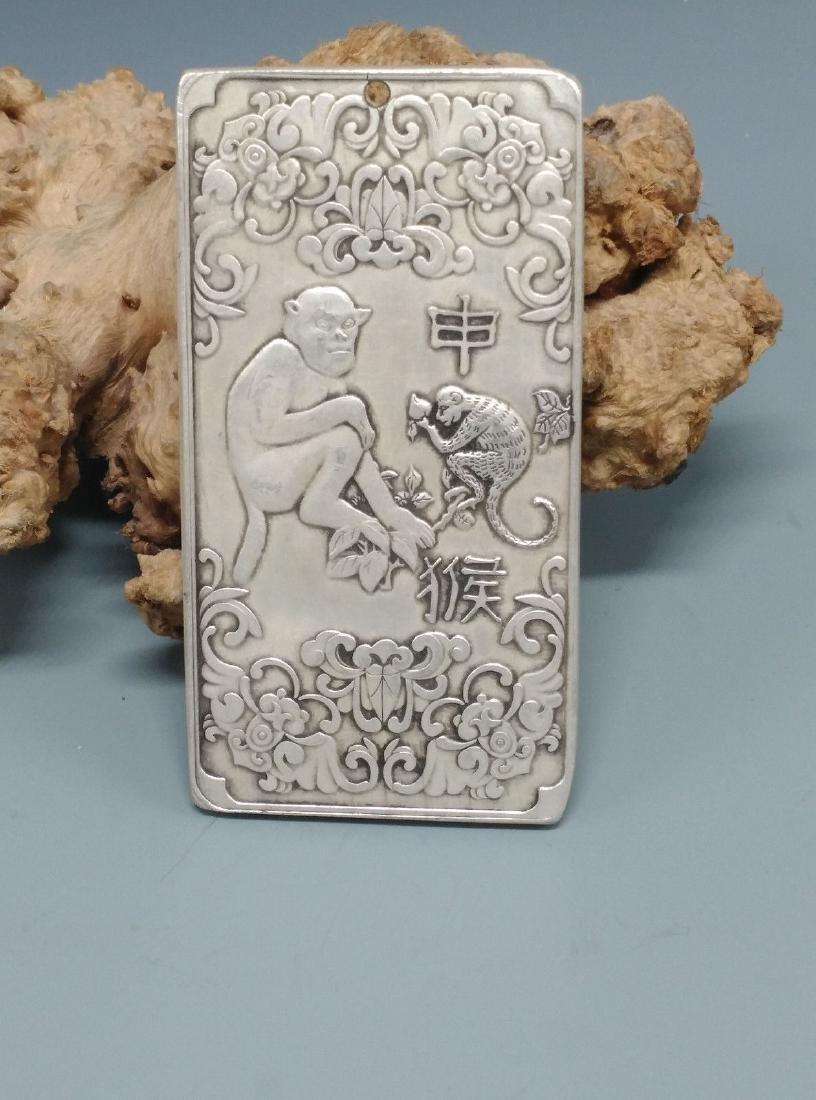 China silver bullion. 97 x 50 4 mm. Weight:4.6 OZ