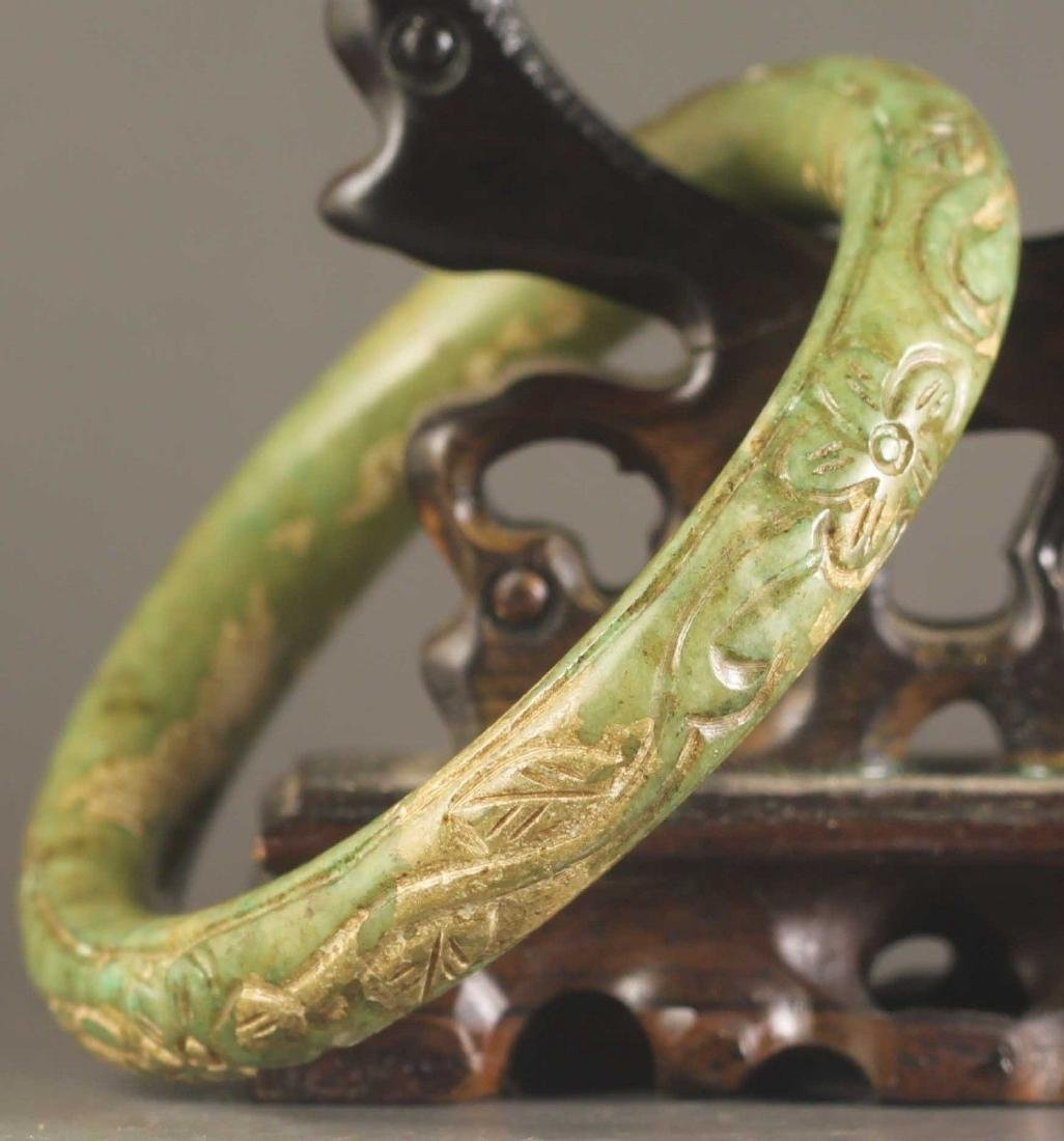 Hand Carved Jade Bangle