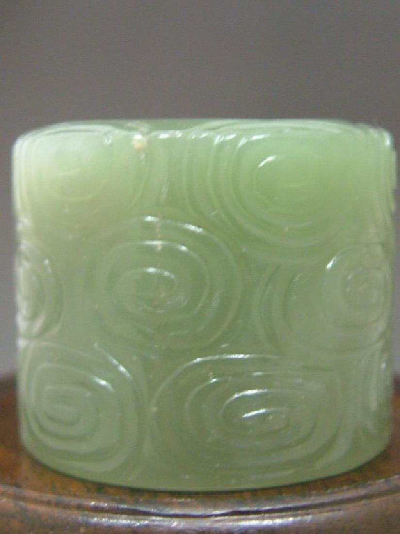 Antique Chinese Celadon Jade Carved Ring