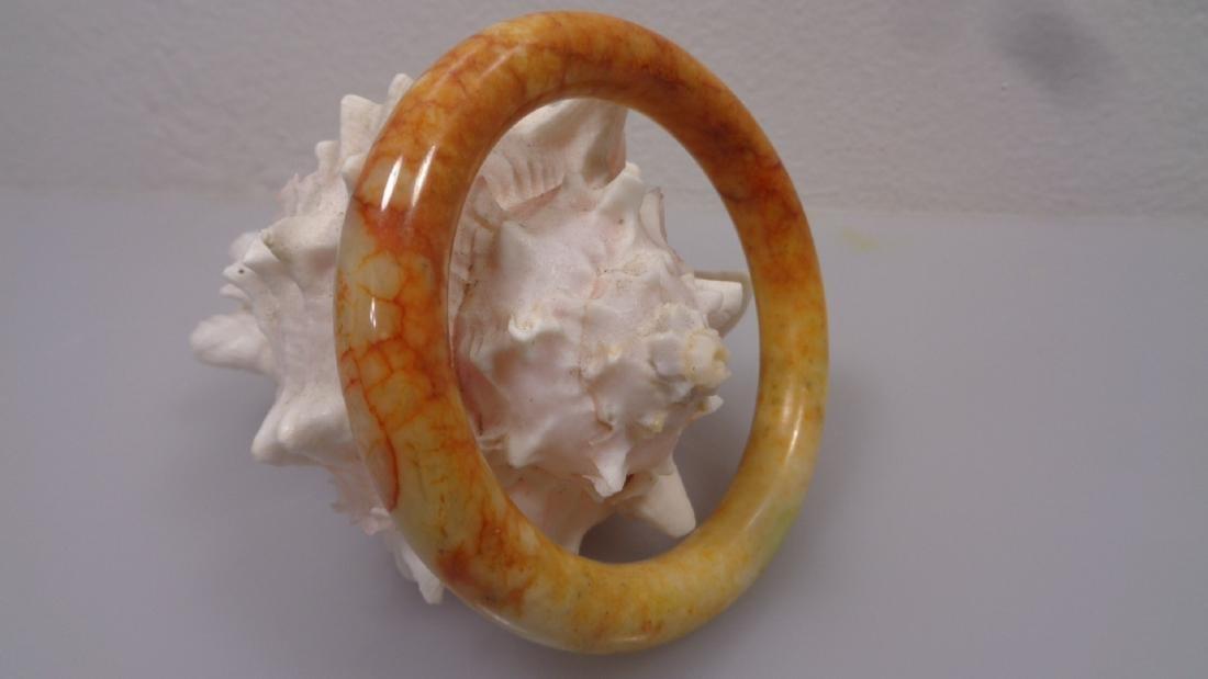 Vintage1950's Jade Bangle Bracelet: Size: Bangle:Inner: