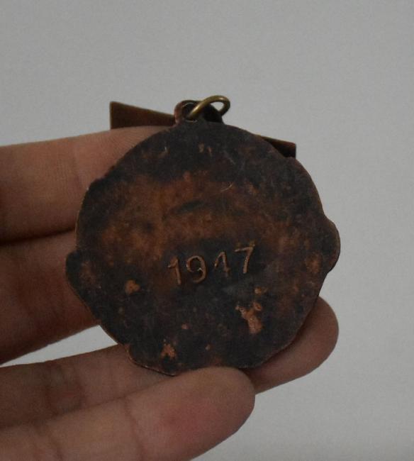 Chinese Bronze Hero Man Badge Brooch