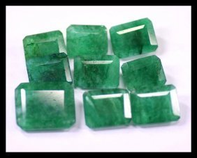 Natural 68.50 Ct /9 Pcs Emerald Gemstone~Lot