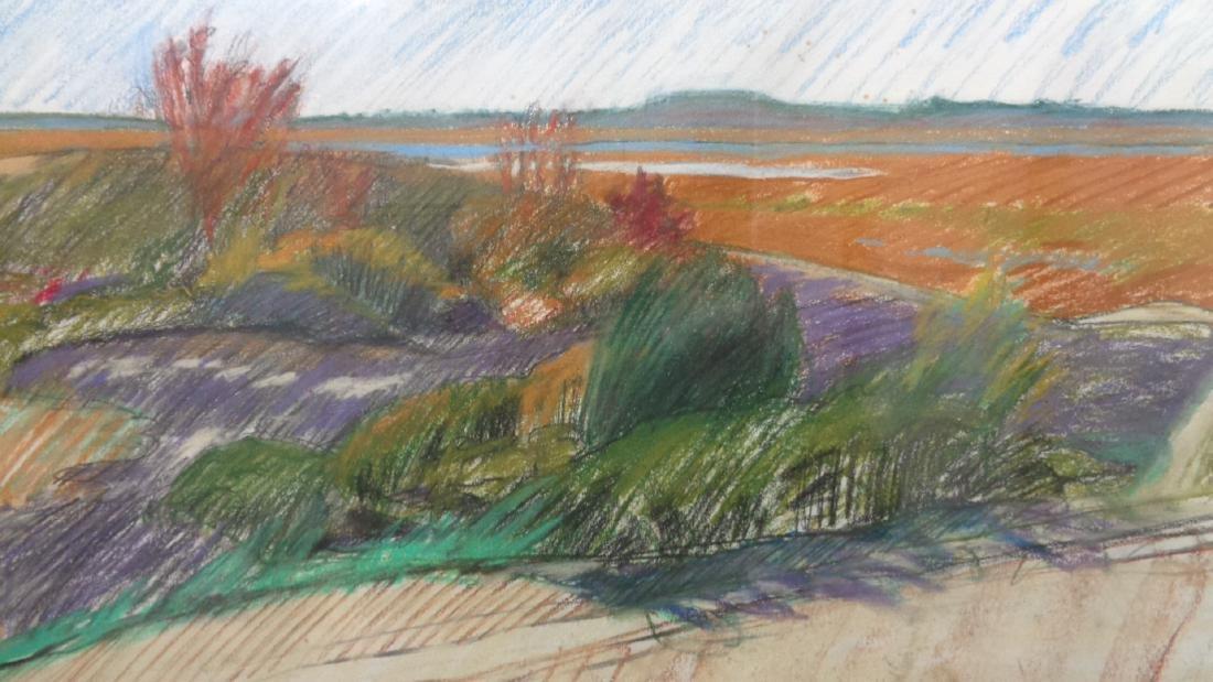 1976 E Delyanis Landscape Artist Study. Pastel-Chalk - 2