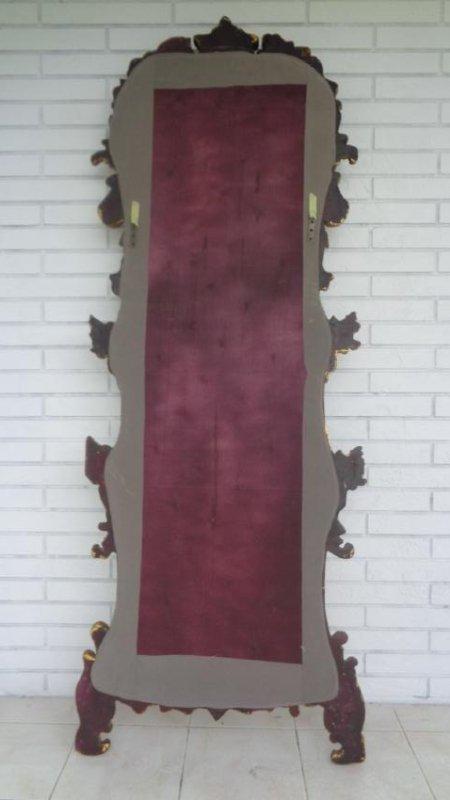 Cherub Bonded Marble -Gray Background- Gold Leaf Mirror - 4