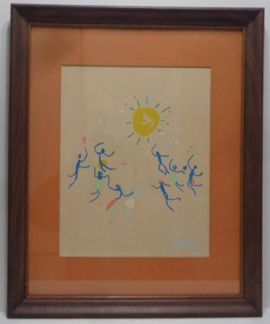 Pablo Picasso (SPANISH, 1881-1973) serigraph N York - 2
