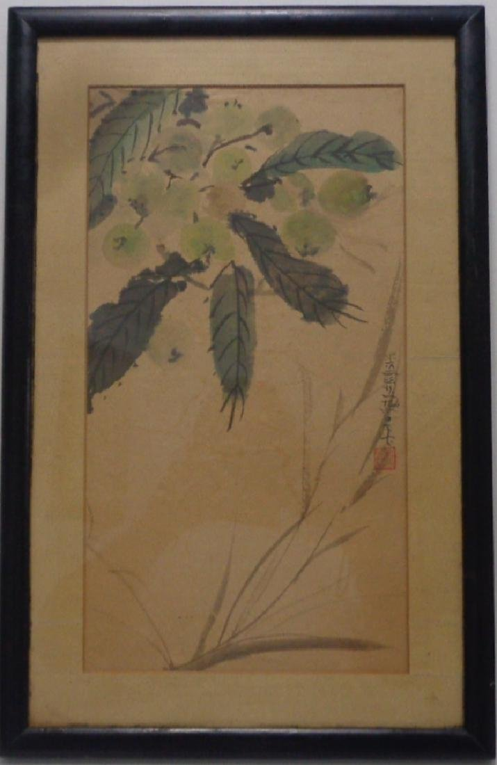 Original Antique Chinese Watercolor - Ink Painting- Han