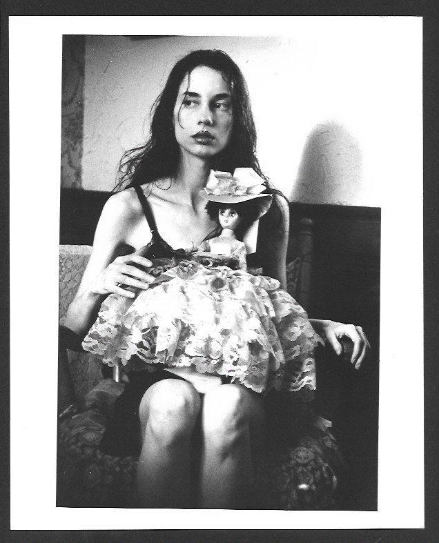Rare Black & White Matte Lady Photograph