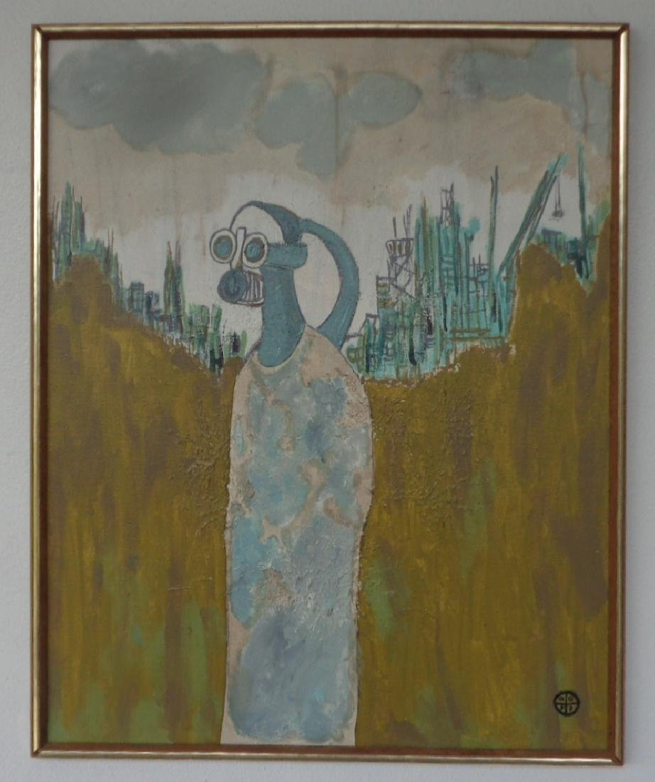 Original Rare Signed Painting on Canvas