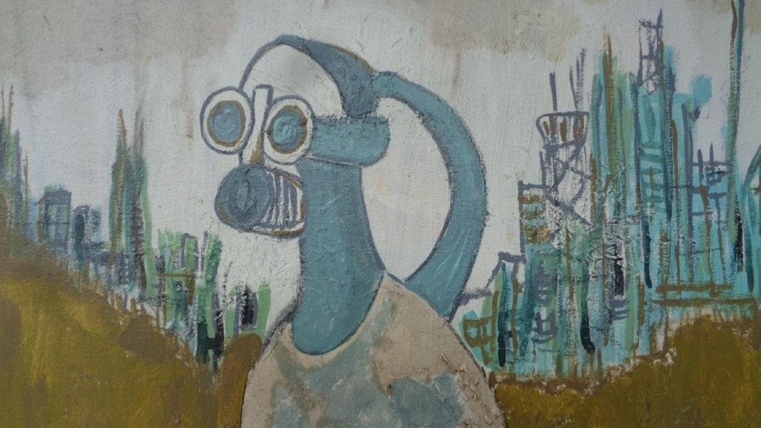 Original Rare Signed Painting on Canvas - 2