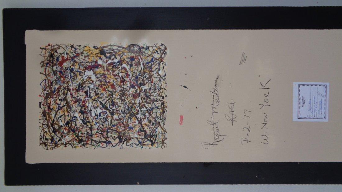 Original R Medina(1958 Ame)Painting N York-Certificate - 3