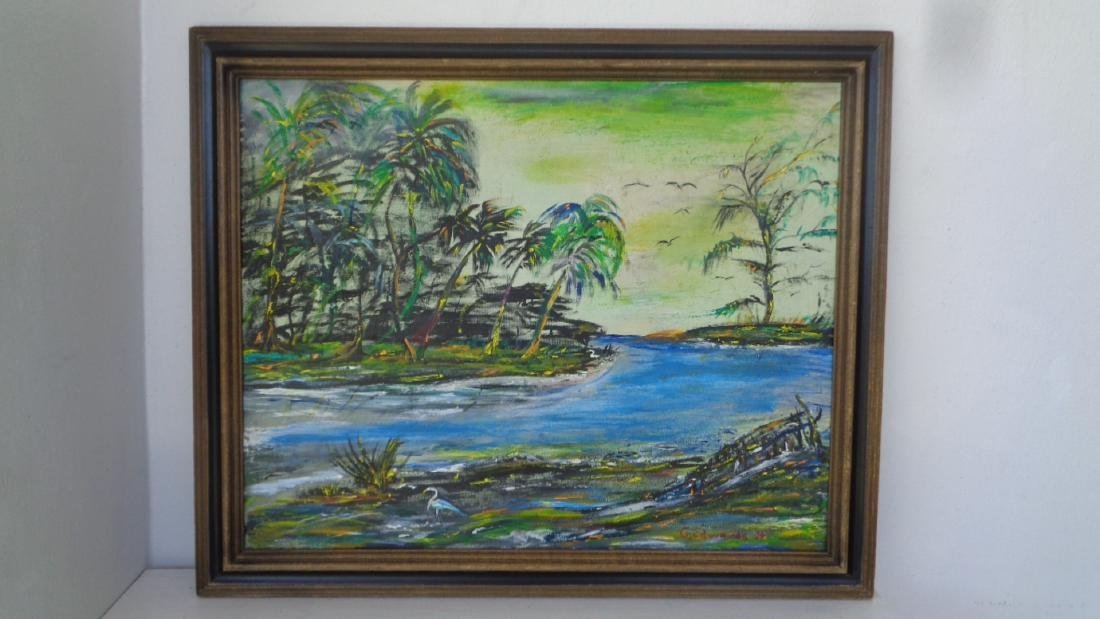 Original Florida Landscaping Painting Signed