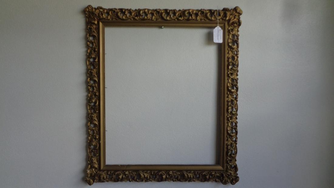 Antique Carved Italian Florentine Wood Frame