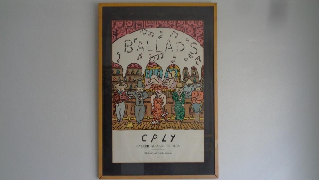 """BALLADS"" Original lithograph, vintage poster, Mourlot,"