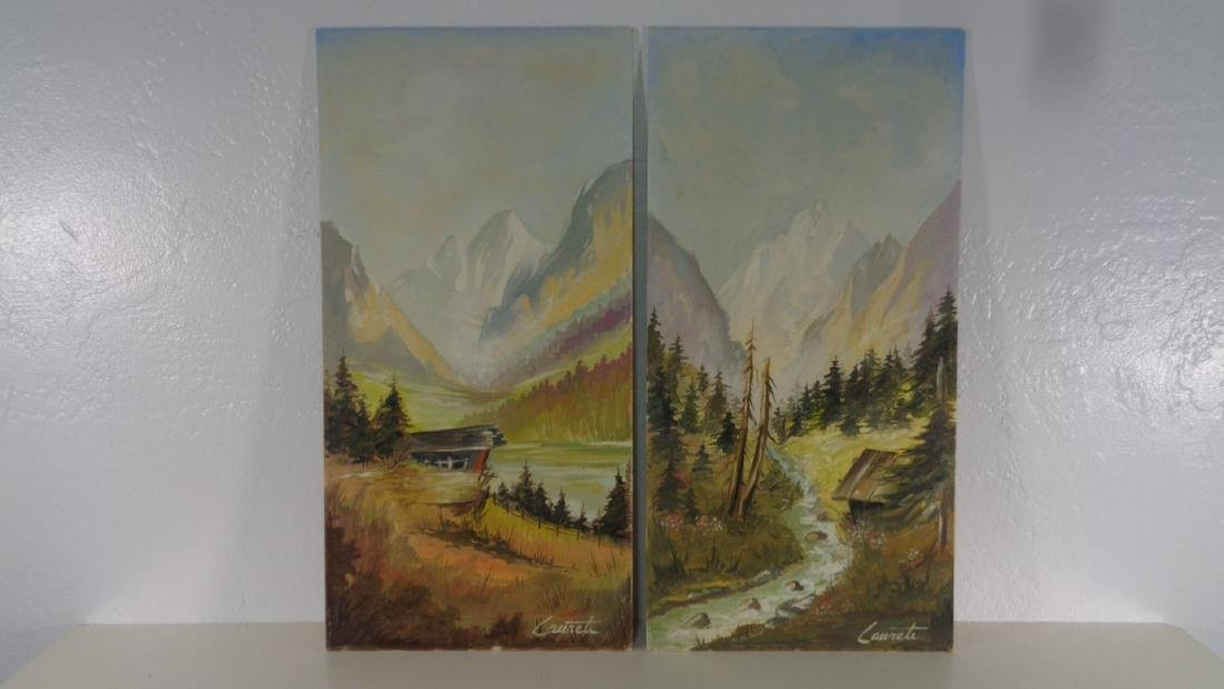 Lot of 2 Original Oil Painting on Grumbacher Canvas