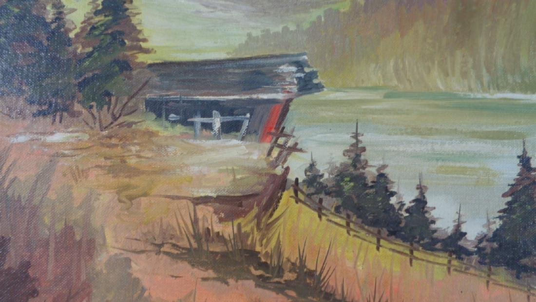 Lot of 2 Original Oil Painting on Grumbacher Canvas - 3