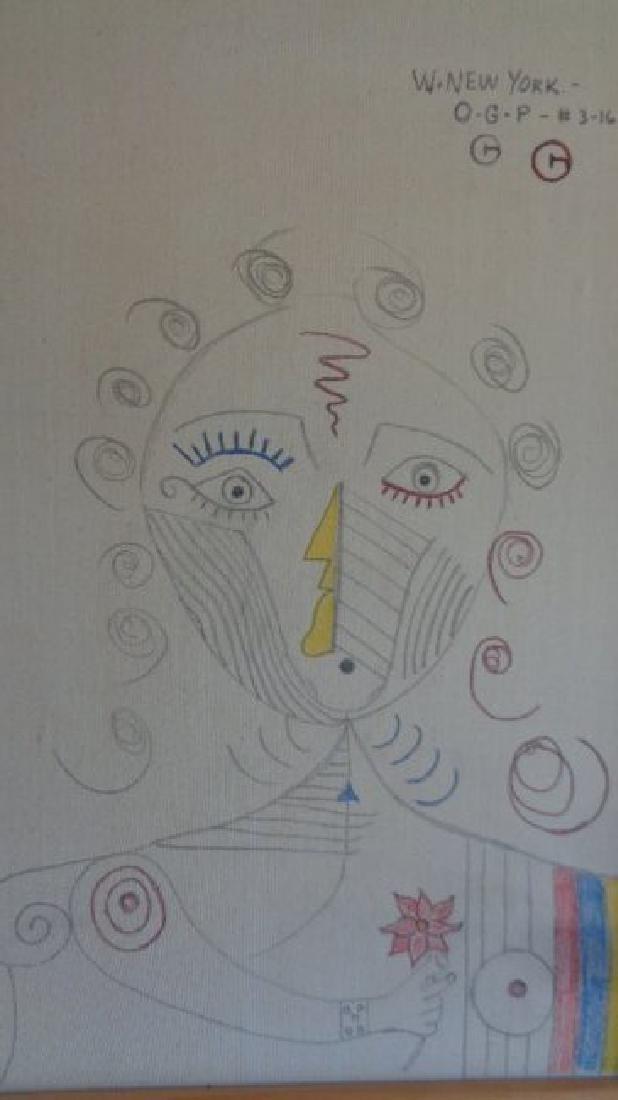 "Large Contemporary Art - Picasso-""Red Lips"".Contemporar - 4"