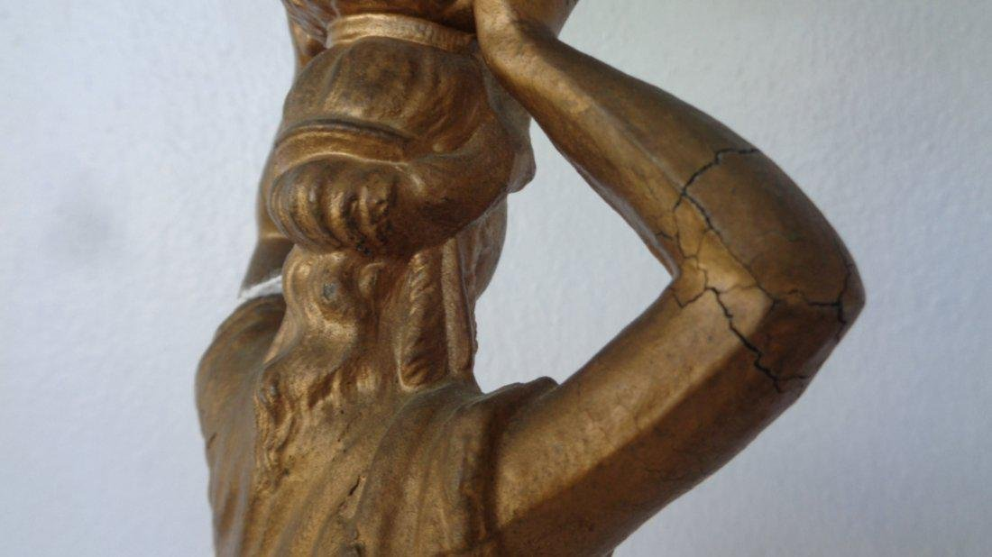 Art Deco Figural Table Lamp , Standing Female metal - 4