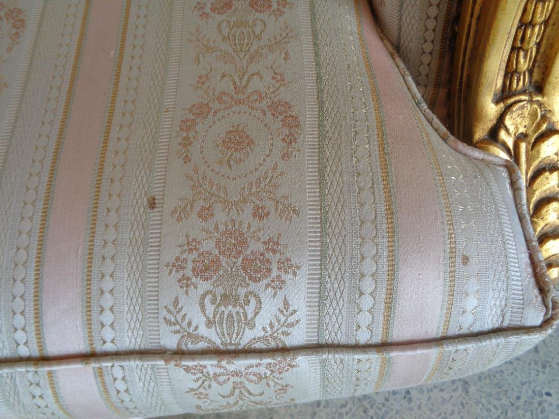 CARVED GILTWOOD SOFA SETTEE UPHOLSTERY - 5