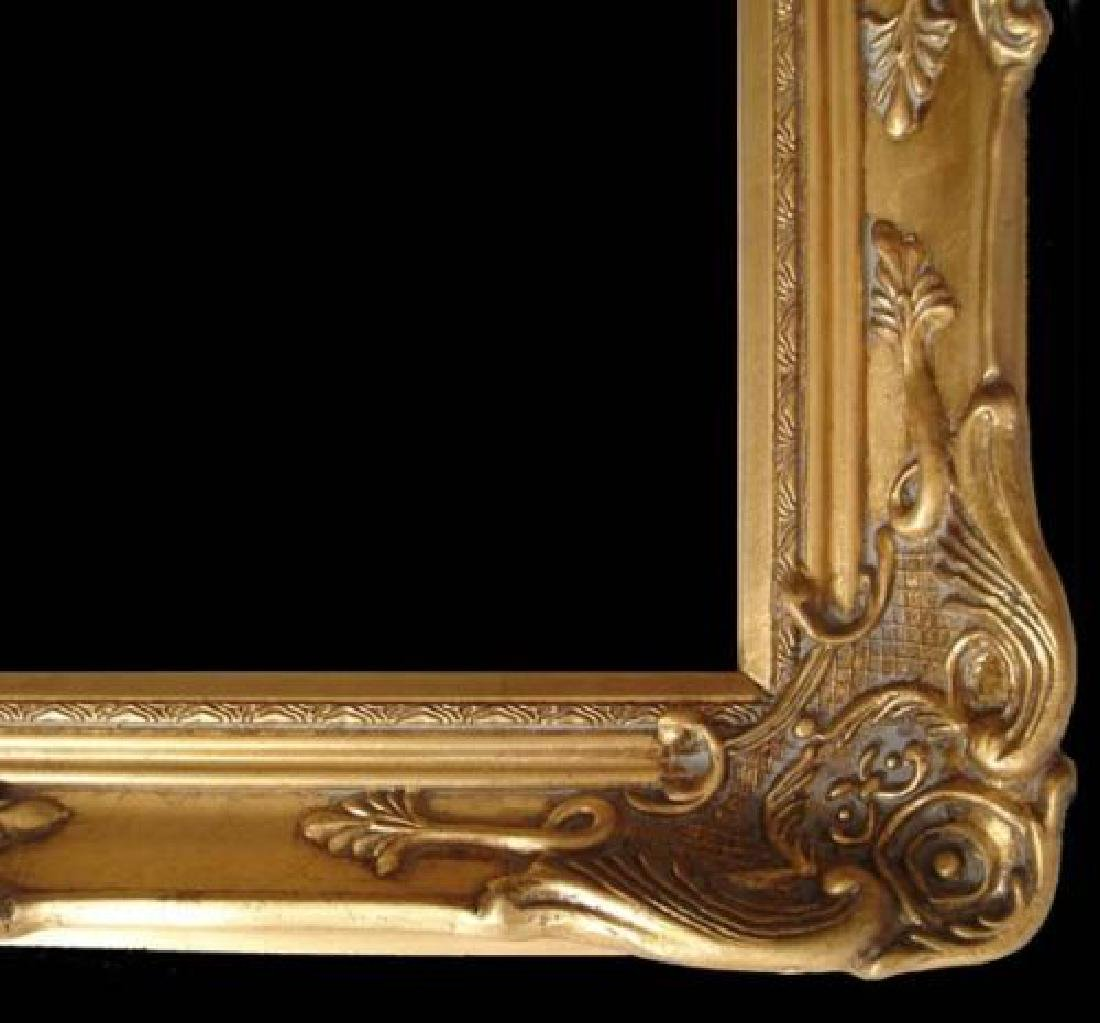 "Wood Picture Frame Ornate Antique Gold 24"" x 36"" #13"
