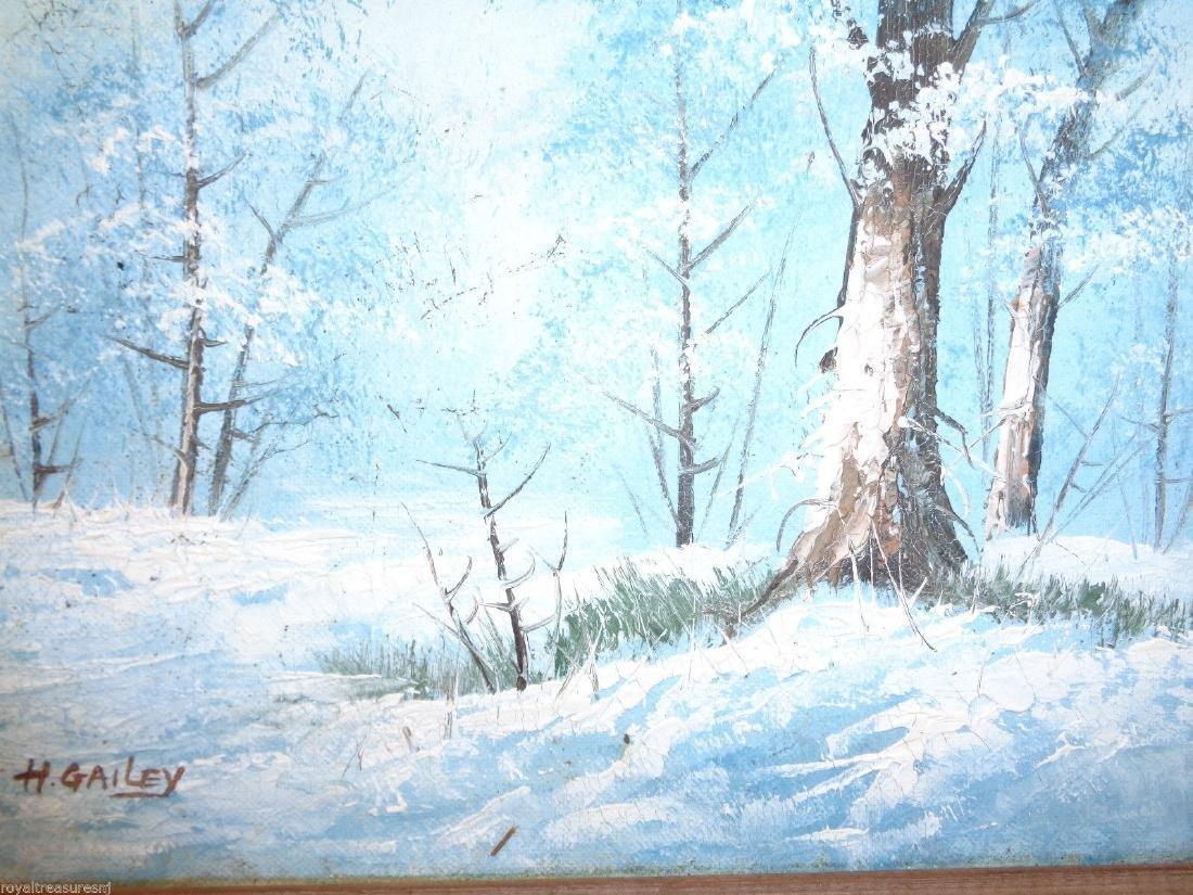 H Gailey Signed Vintage Original Oil painting Framed - 2