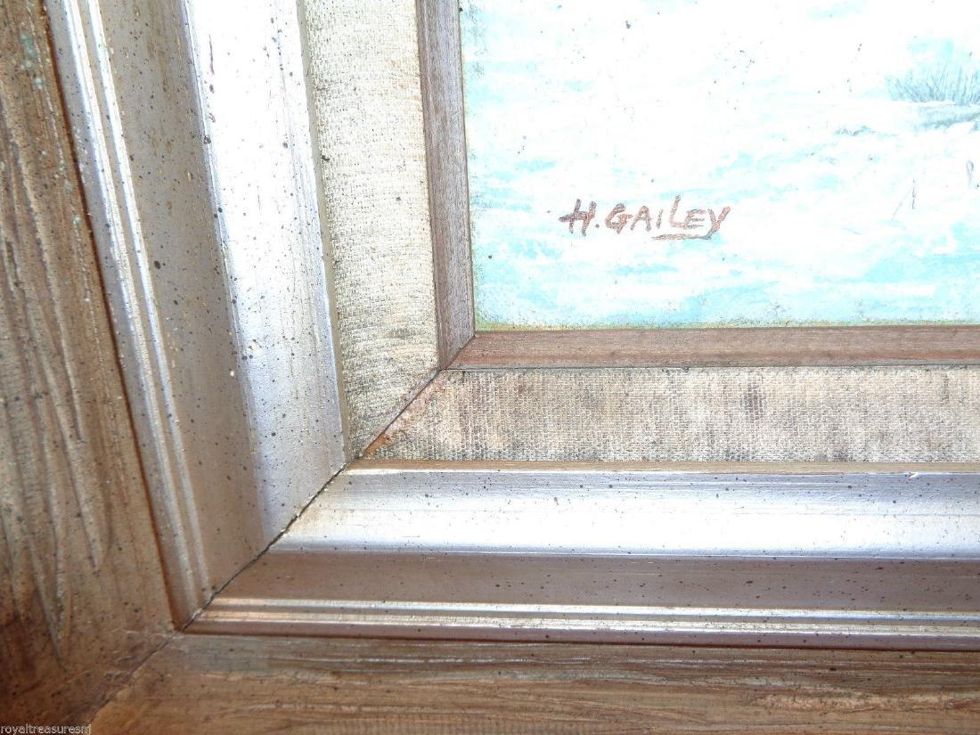 H Gailey Signed Vintage Original Oil painting Framed - 3