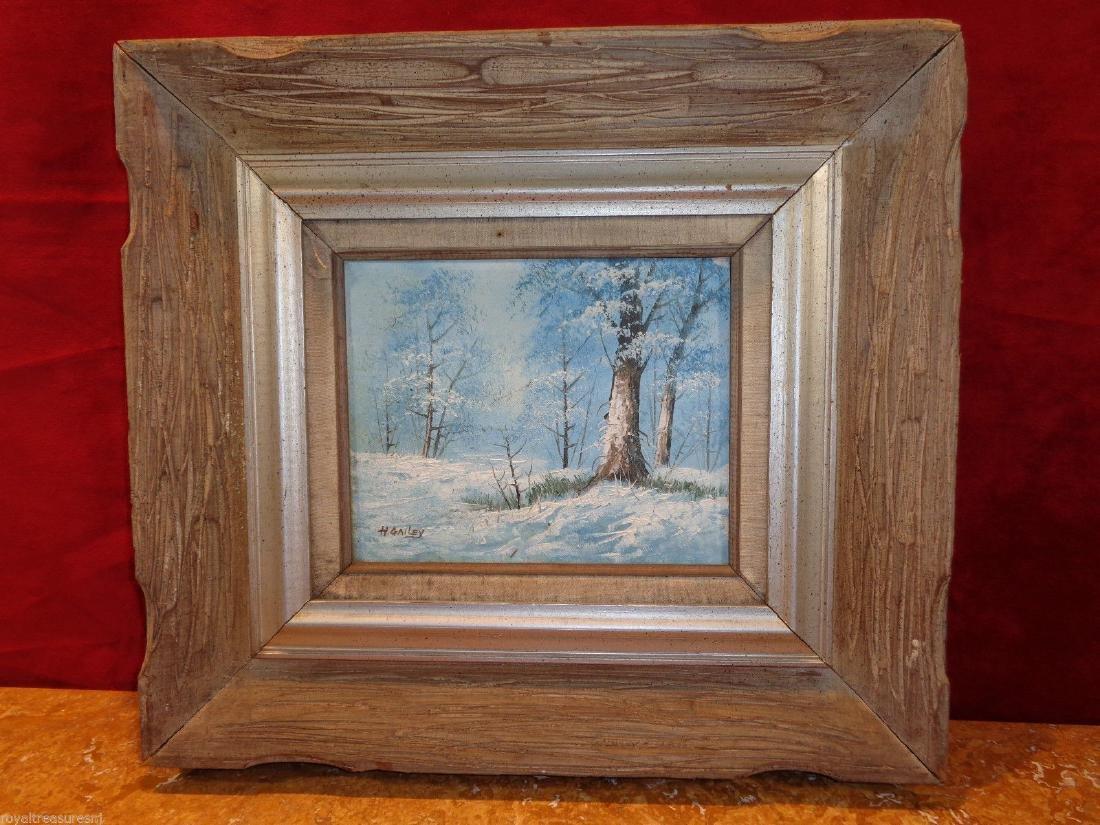 H Gailey Signed Vintage Original Oil painting Framed - 5
